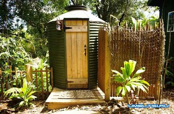 Туалет из профнастила