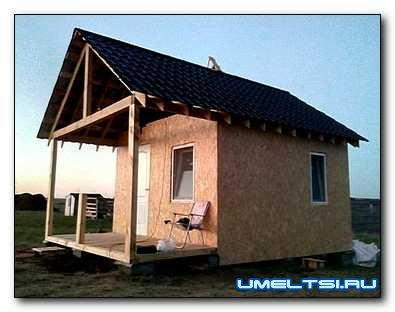 недорогой каркасный домик на даче