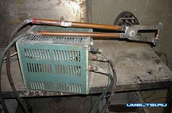 общий вид точечной электросварки