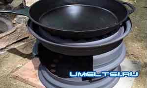 мангал-печь из колесных дисков своими руками