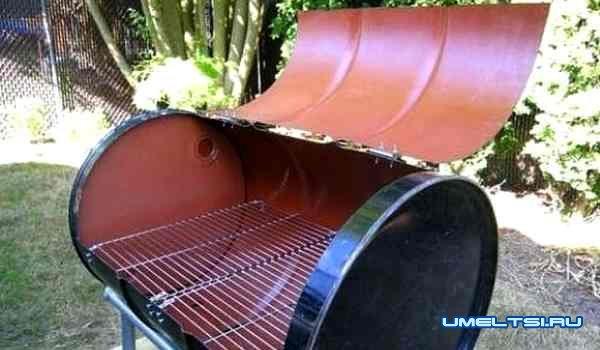 Мангал из бочки из-под горюче-смазочных материалов