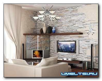 Искусственный камень для декорирования квартиры