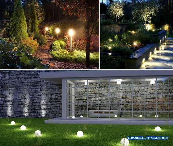 Идеи оформления двора-освещение во дворе
