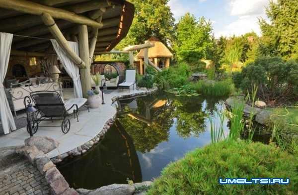 Идеи оформления двора-водная дорожка