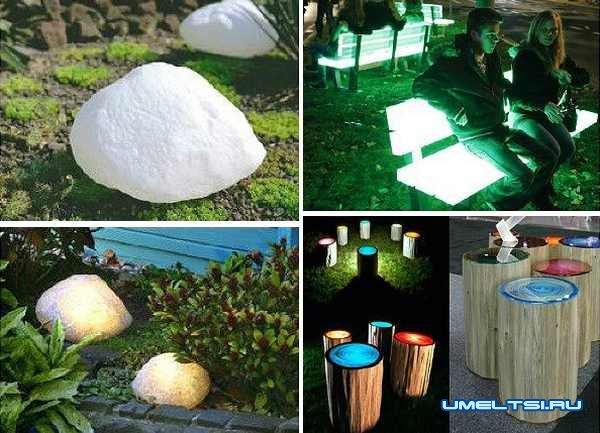 Идеи оформления двора-флуоресцентные краски