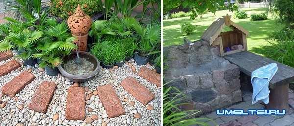 Идеи оформления двора-мойка для ног