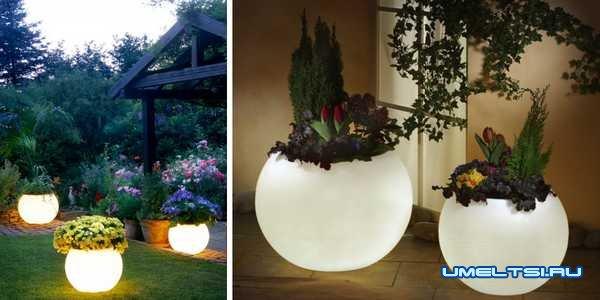 Идеи оформления двора-вазоны для цветов