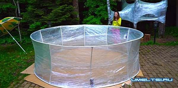 Бассейн из пластиковых труб -фото