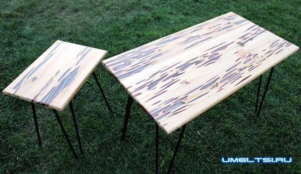 светящийся стол из дерева своими руками