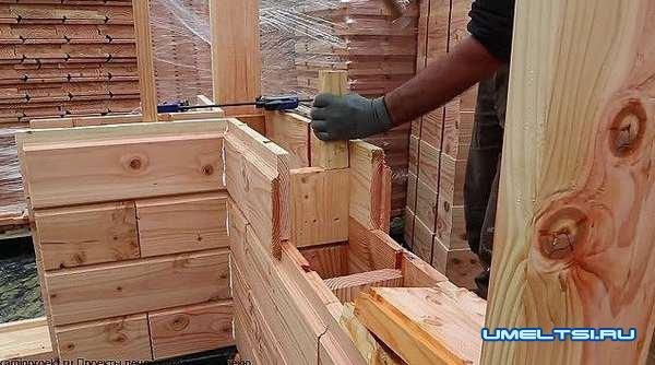 Деревянный кирпич своими руками-ход работ