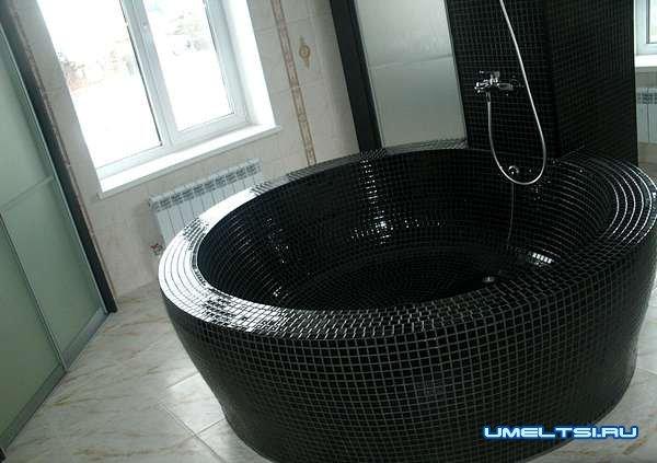 Как сделать ванну из кирпича