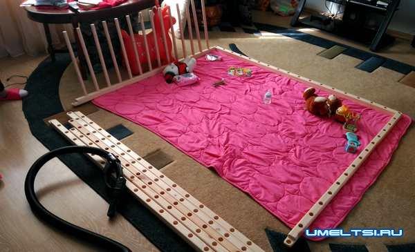 Как сделать детский манеж - фото