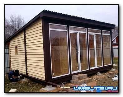Строительство летнего гостевого домика