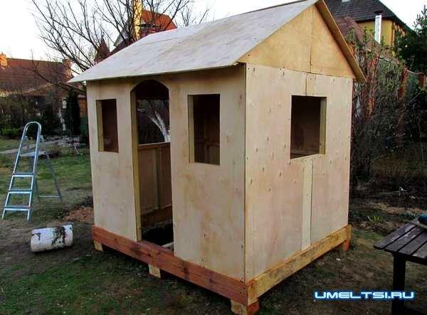 Пошаговое описание строительства домика для детей своими руками