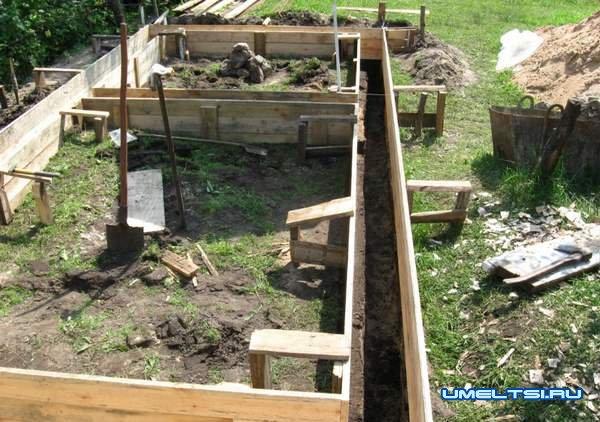Строительство бани - изготовление опалубки