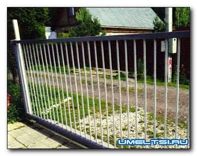 Автоматические откатные ворота с дистанционным открыванием