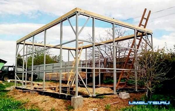 Строим гараж на металлокаркасе