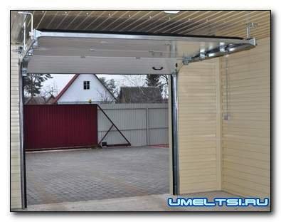 Установка секционных ворот для гаража-поэтапно