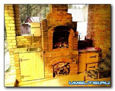Как построить печь - жаровню на террасе