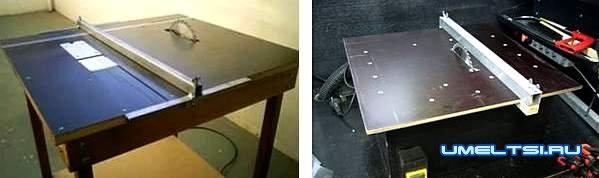 Примеры готовых столов для ручной циркулярной пилы