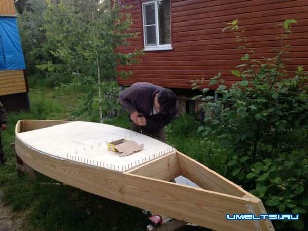 делаем деревянную лодку - плоскодонку