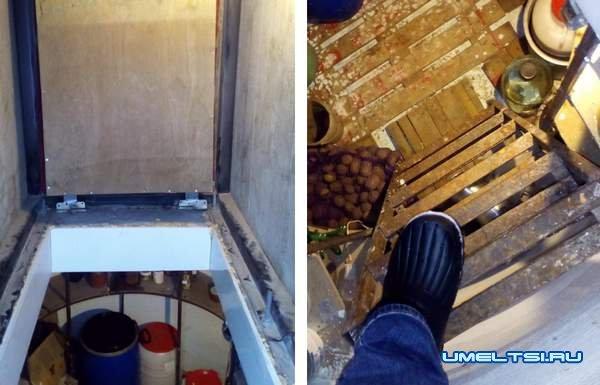погреб своими руками из бетонных колец: фото