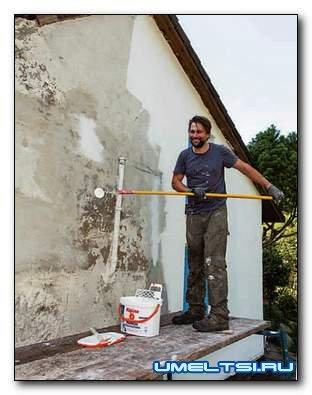 Ремонт фасада: подготовка к покраске, покраска (мастер класс)