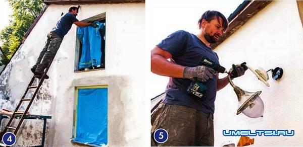 Ремонт фасада: подготовка к покраске, покраска