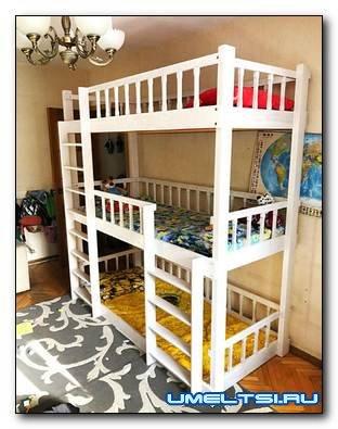 Детская трехэтажная кровать своими руками