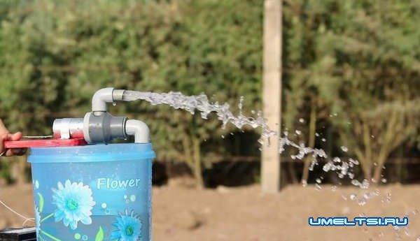 Как сделать самодельный водяной насос - фото