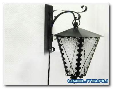 Уличный фонарь своими руками из металла