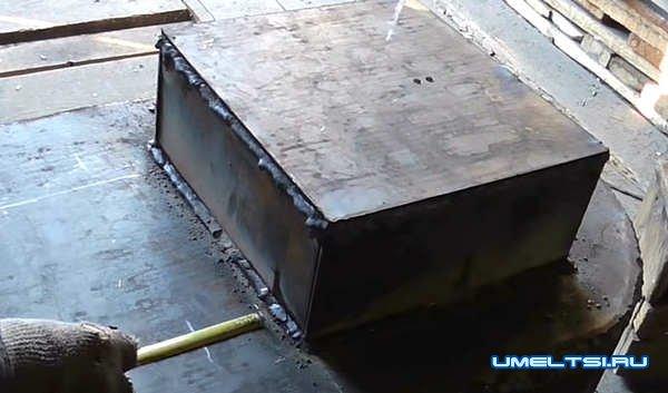 Строим печь для бани-ход работ