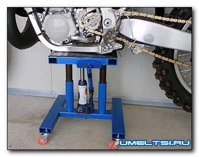Подставка под мотоцикл своими руками
