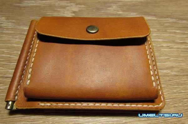 Мужское портмоне из натуральной кожи своими руками