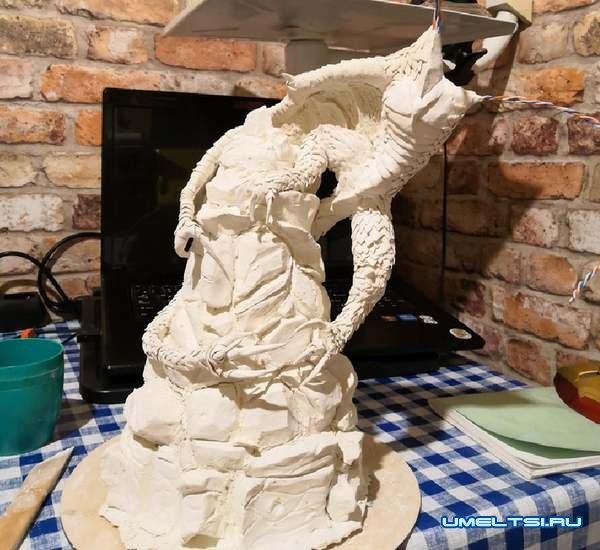 статуэтки из гипса - рептилия