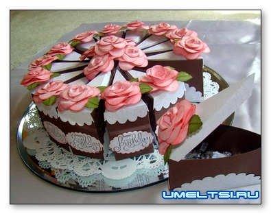 Торт из картона, шаблон с размерами, подробная инструкция