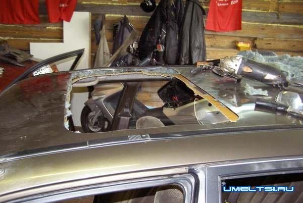 Самостоятельная установка люка на авто