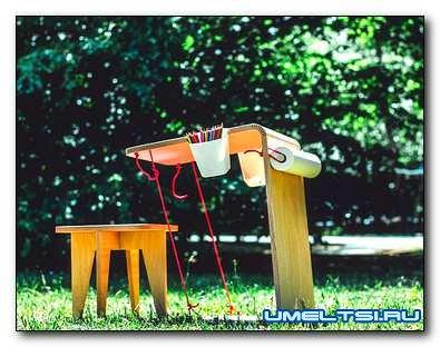 Мобильный детский стол для рисования (чертежи)