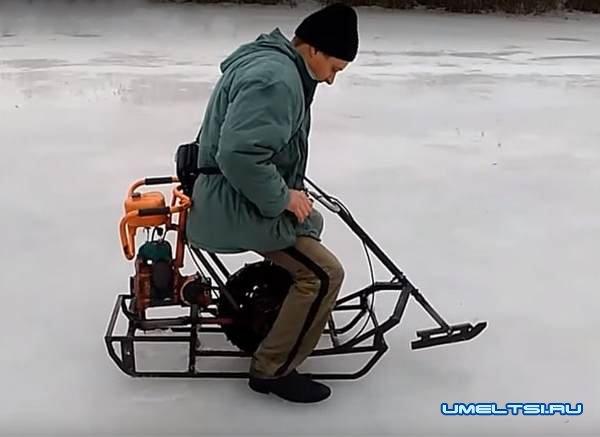 Снегоход из подручных средств своими руками