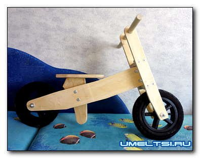 Велосипед без педалей: велобалансир, велобег