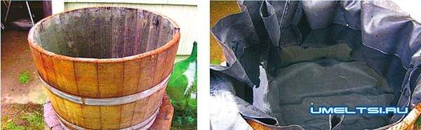 Декоративный фонтан из бочки своими руками