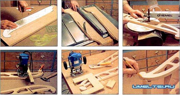 Деревянные санки своими руками, инструкция