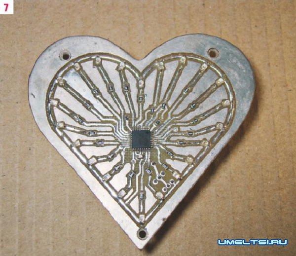 Электронное сердце своими руками