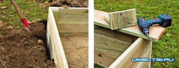 Создаем игровую площадку с песочницей
