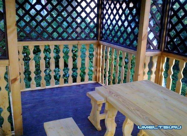 Как построить деревянную беседку для дачного участка