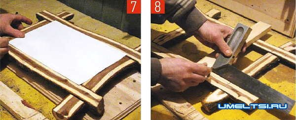 фоторамка из веток своими руками