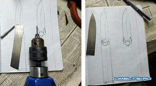 нож бабочка своими руками