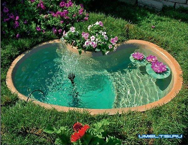 Идеи оформления для садовых фонтанов