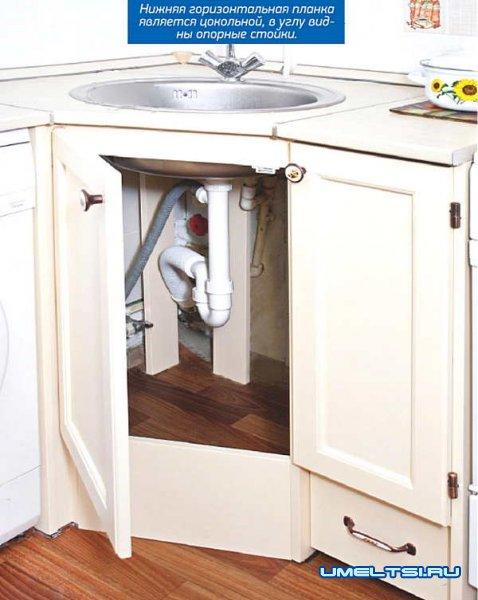 угловая тумбы для кухонной мойки