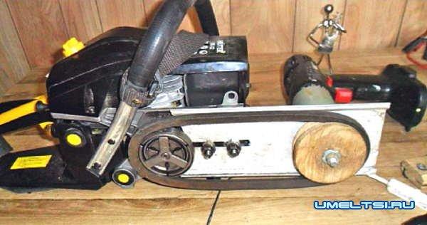 Электрогенератор с приводом от бензопилы